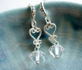 Aurora Unforgettable Sweet Heart Bridesmaid Earrings