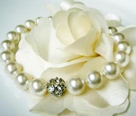 Catherine Unique Swarovski Pearl Bridesmaid Bridal Bracelet