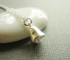 Wedding Bell Sterling Silver Necklace
