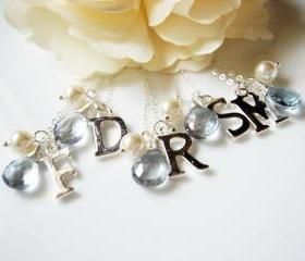 Personalize Your Own Blue Quartz Pearl Sterling Silver Necklace