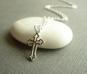 Everyday Sterling Silver Cross Necklace