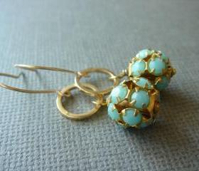 Turquoise 14k Gold Filled Earrings