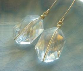Stunning Crystal Bridesmaid 14k Gold Filled Earrings