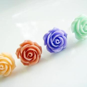 Choose Your Spring Flower Stud Earrings